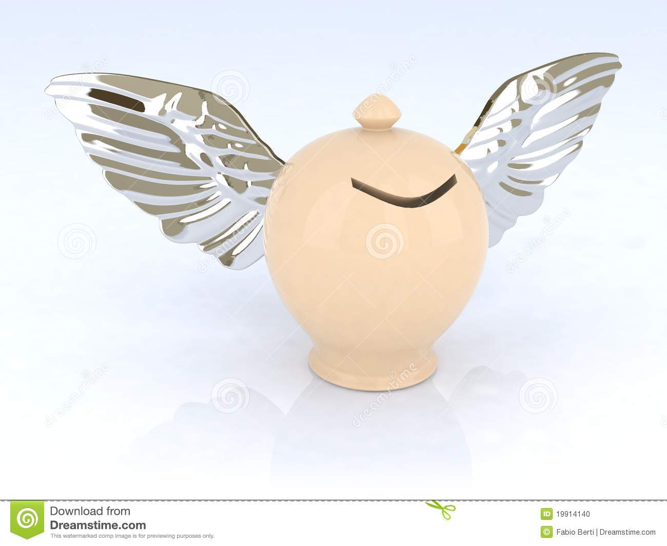 Money Box With Wings Stock Photo - Image: 19914140