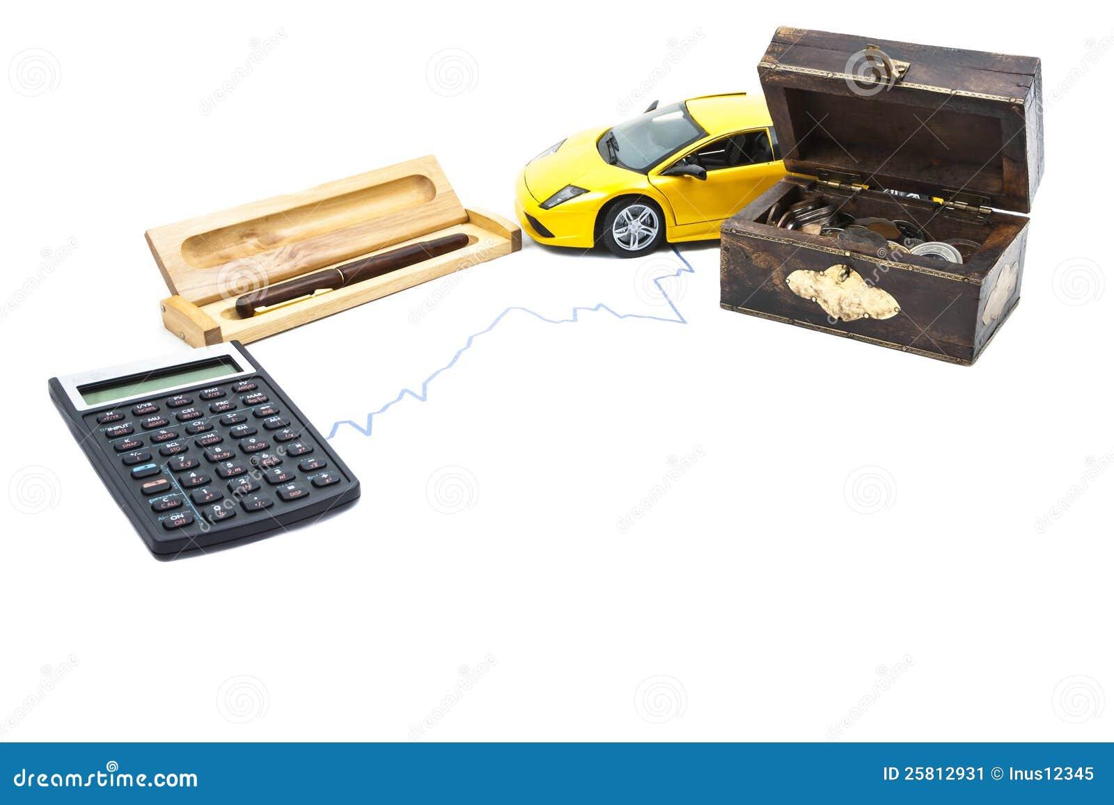 money car calculator and pen stock image image 25812931. Black Bedroom Furniture Sets. Home Design Ideas