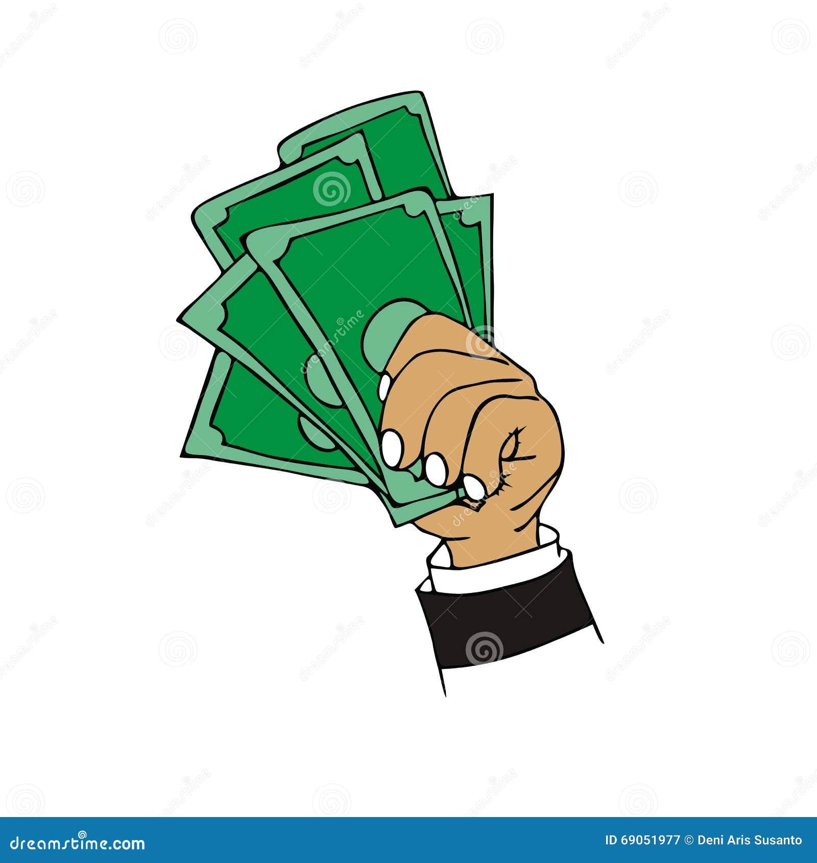 Money Cash Cartoon Stock Vector Image Of Background