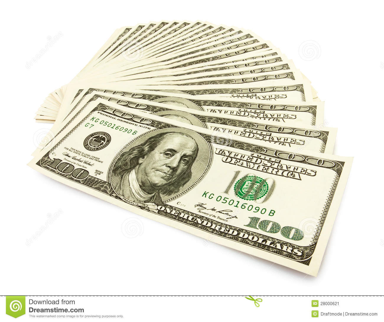 Money: Money Cash Fan Stock Image. Image Of Object, Green