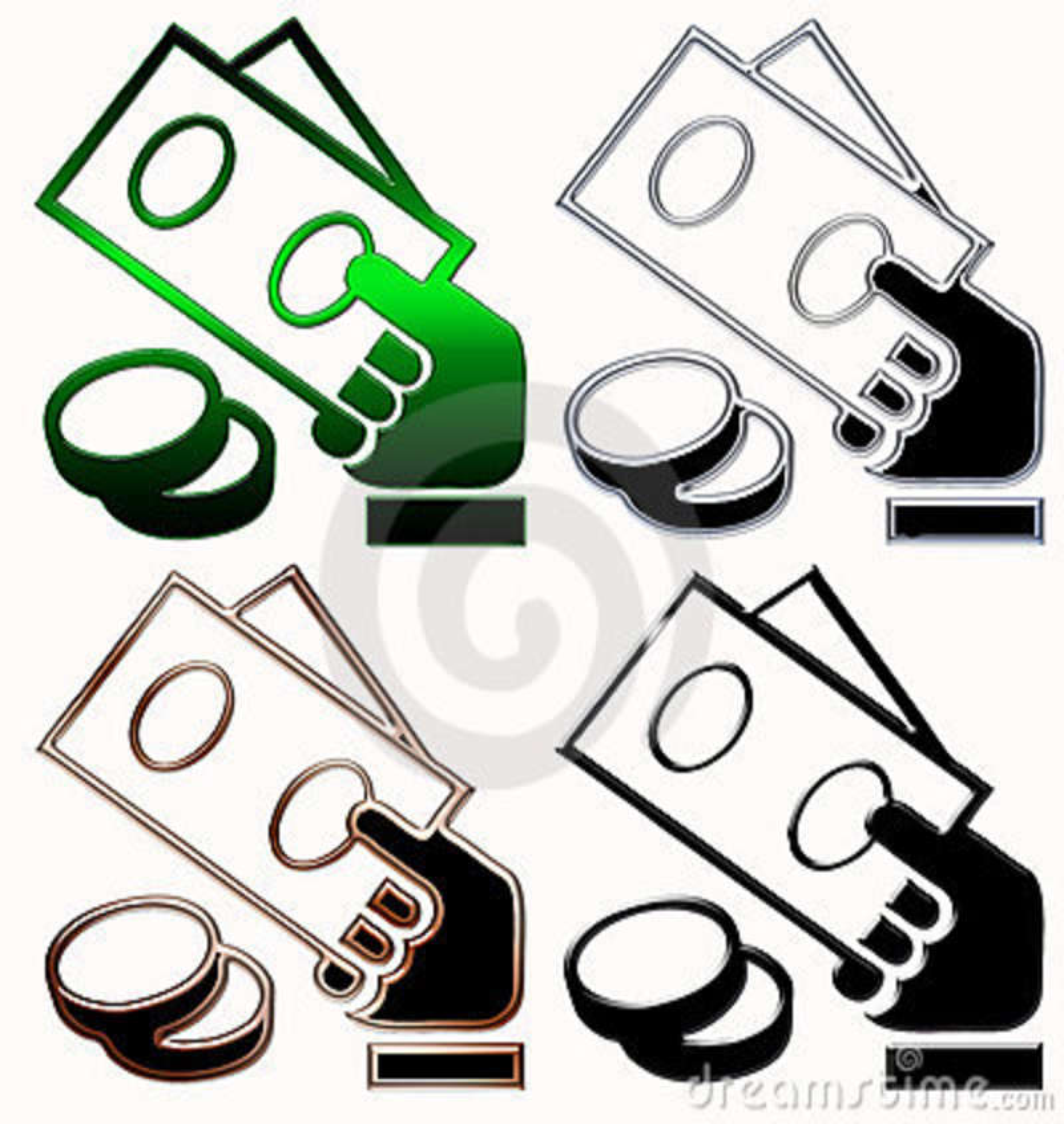 Money Cash Symbols Stock Images - Image: 6808314