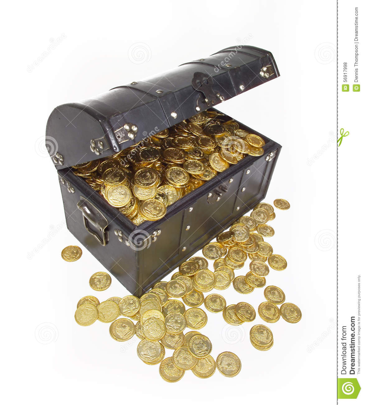 money chest gold coins treasure estate planning stock