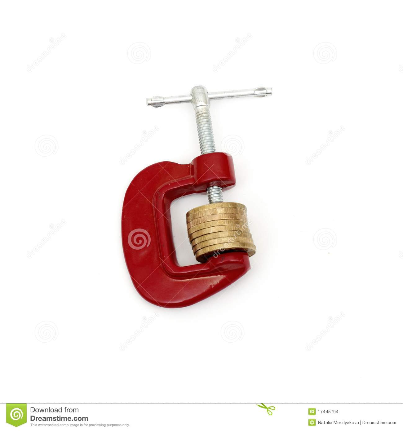 Download Money clamped in the clamp stock photo. Image of coin - 17445794