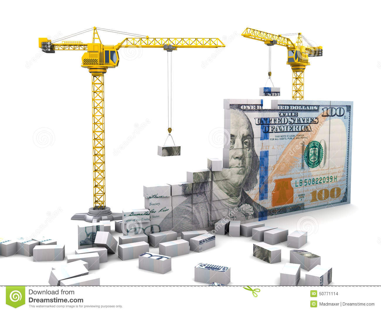 Money Construction Stock Illustration Image 50771114