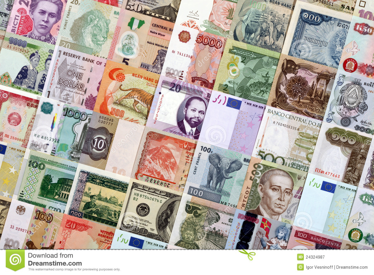 Money From Different Countries Royalty Free Stock Photography - Image ...