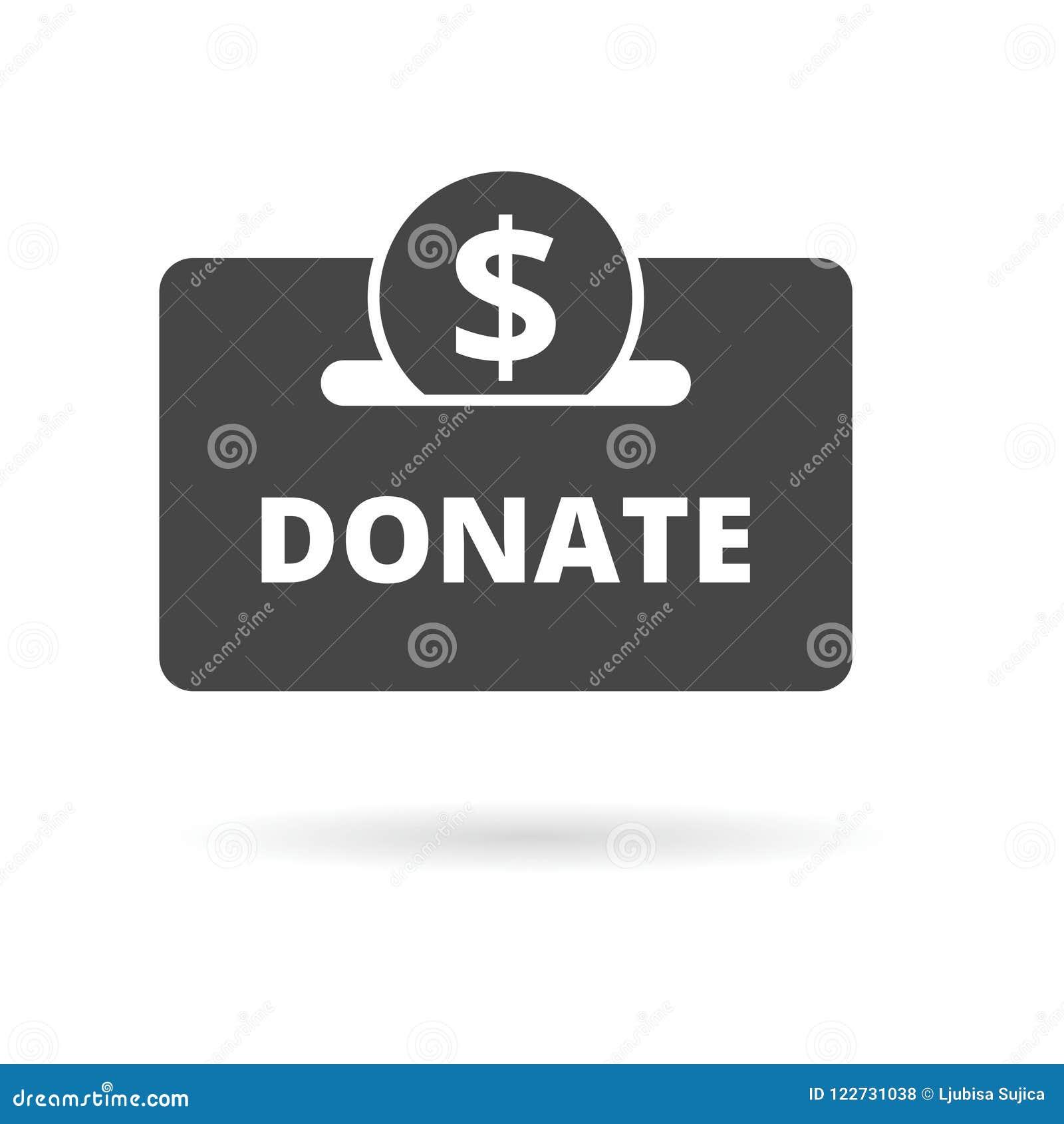 Money donation icon stock vector  Illustration of love