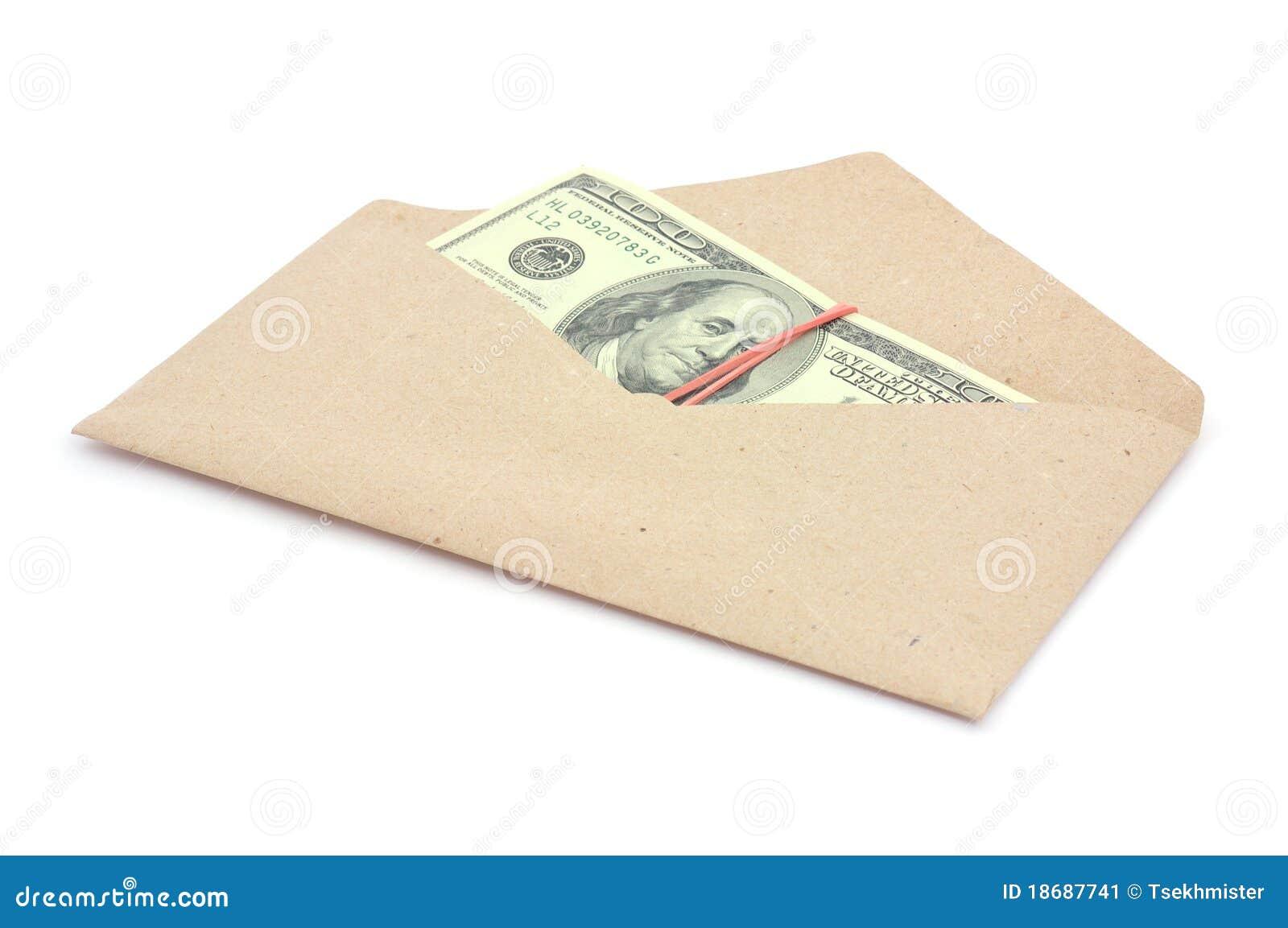 Money In Envelope Stock Image - Image: 18687741