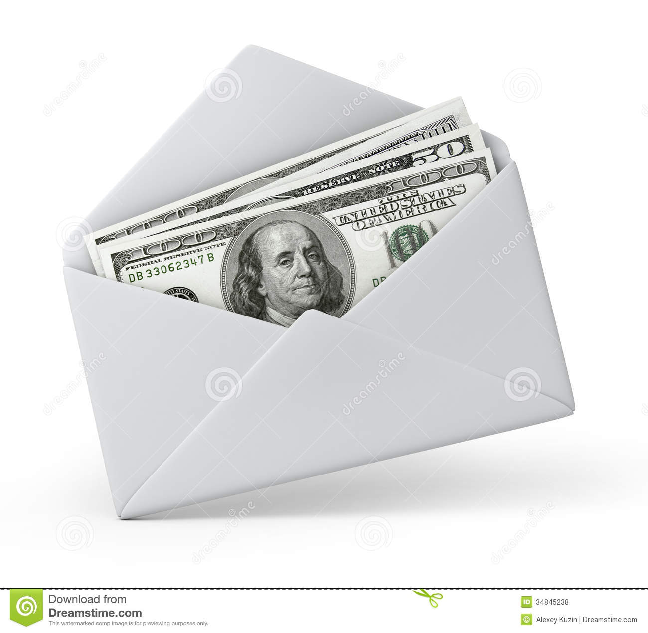 Put Money In The Envelope Stock Image - Image: 1732201