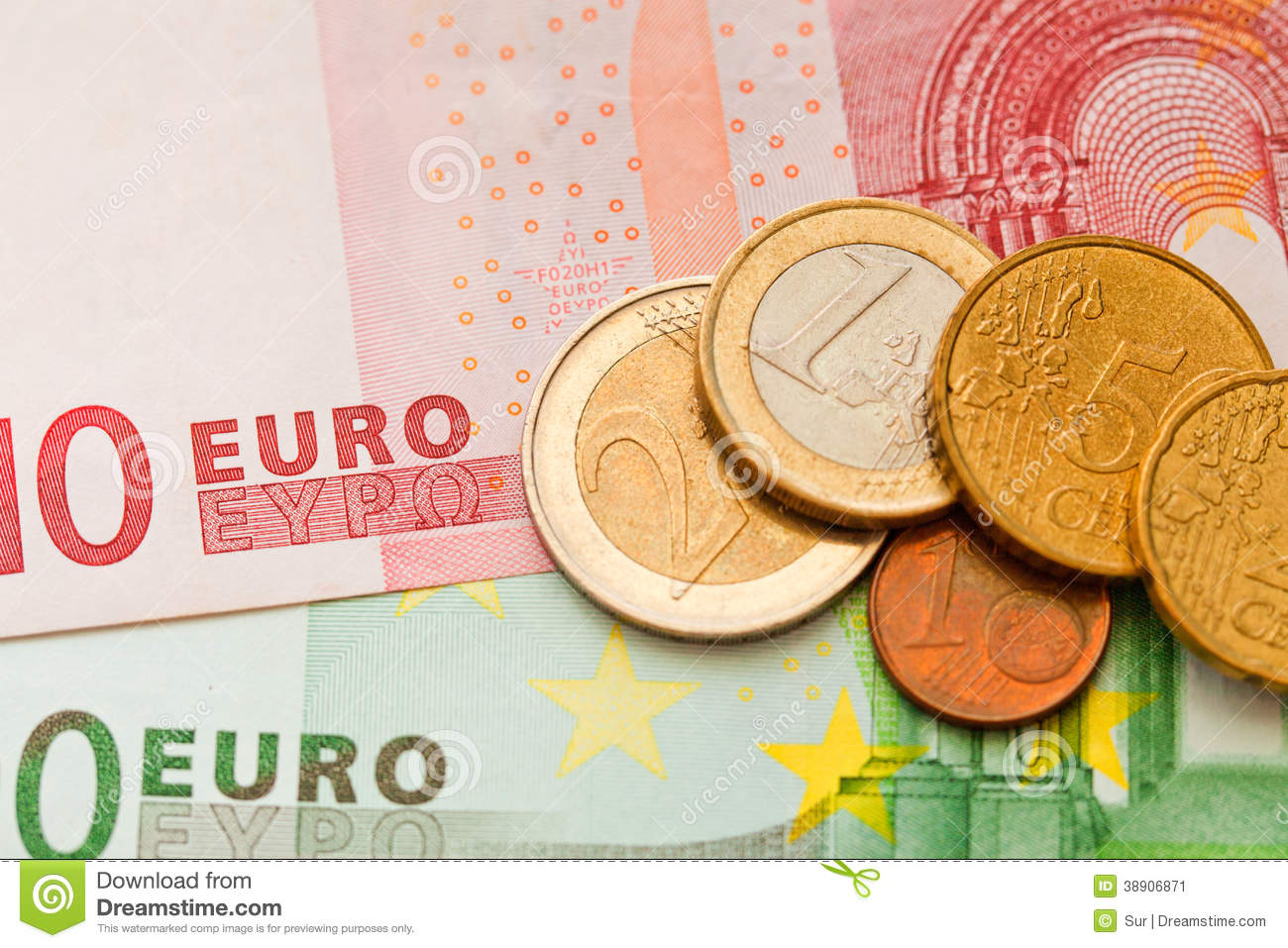 Money Euro Stock Image Image Of Coin Green Metal Cent 38906871