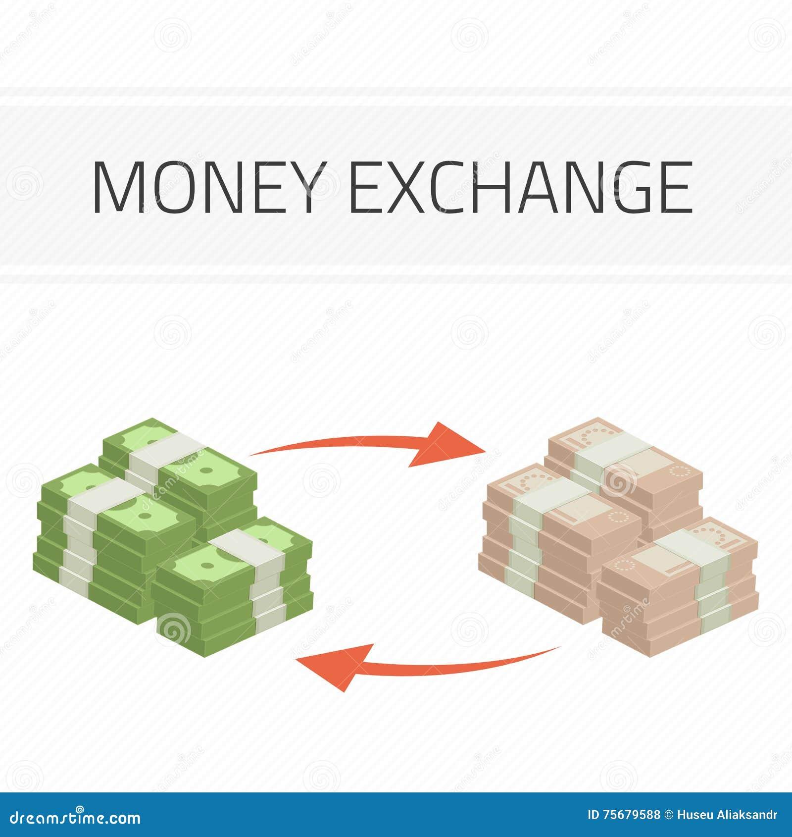 Money Exchange Illustration Stock Vector Illustration Of Flat