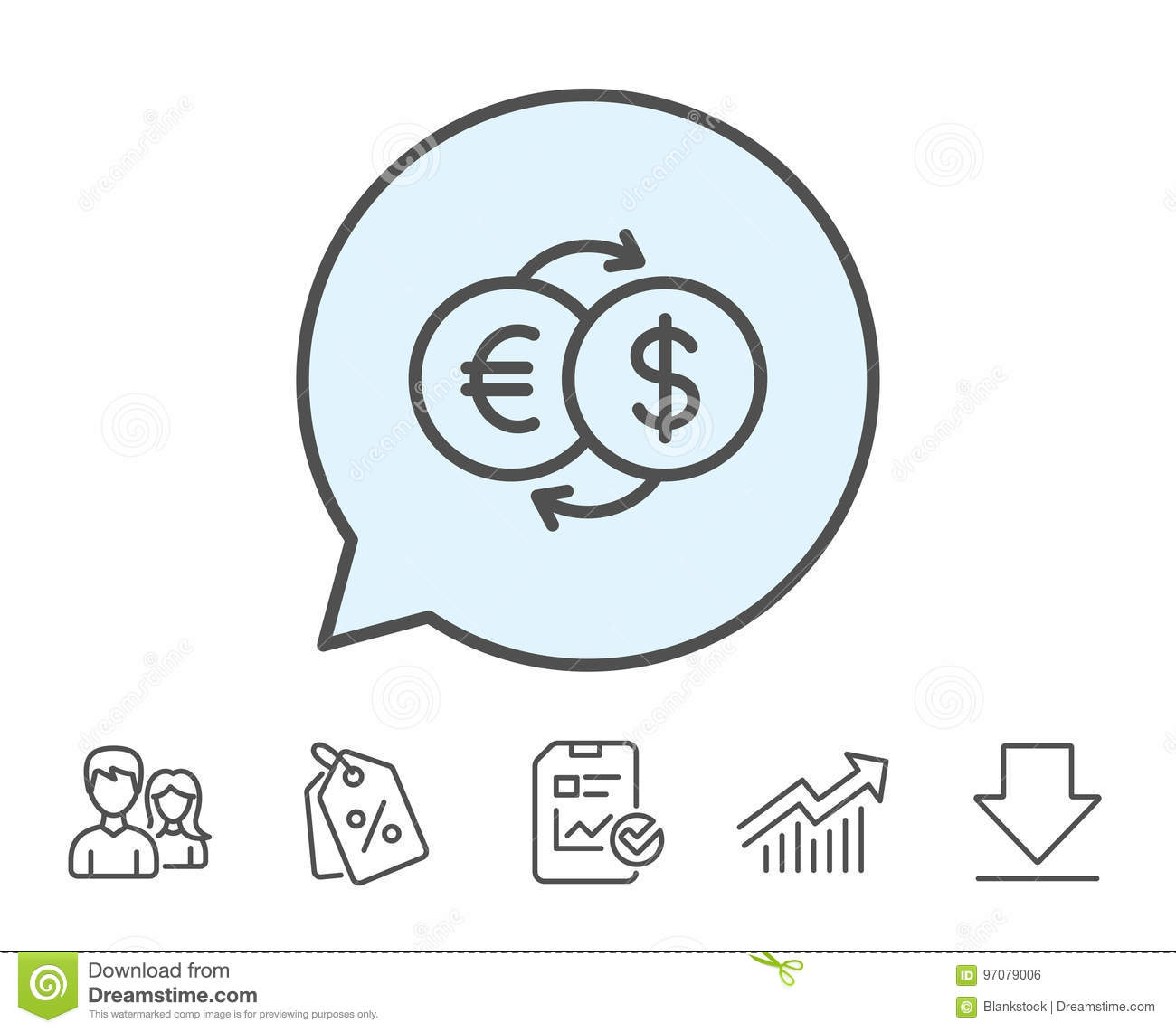 Money exchange line icon banking currency stock vector image money exchange line icon banking currency nvjuhfo Images