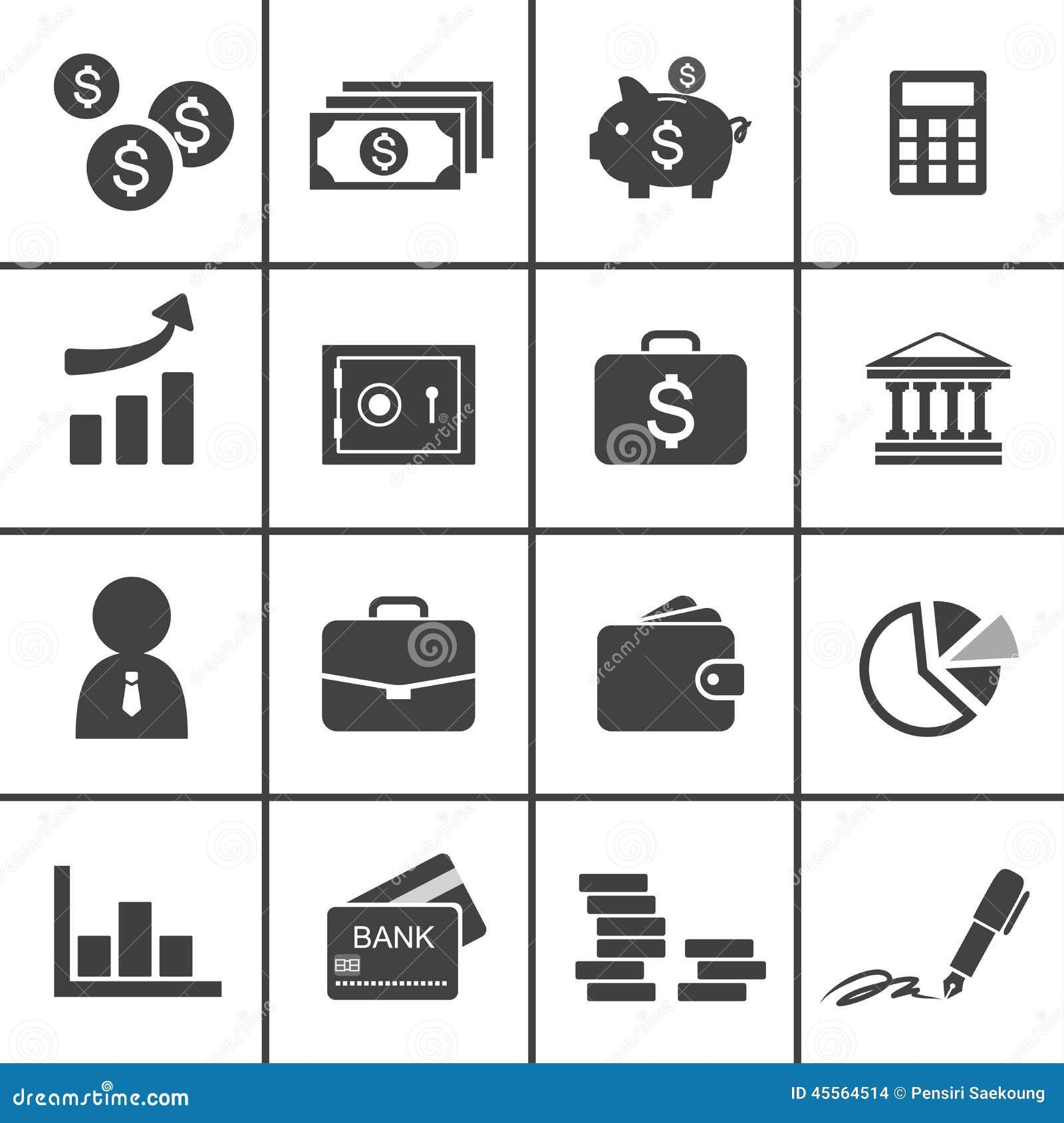 Money finance banking icons stock vector illustration 45564514 money finance banking icons biocorpaavc