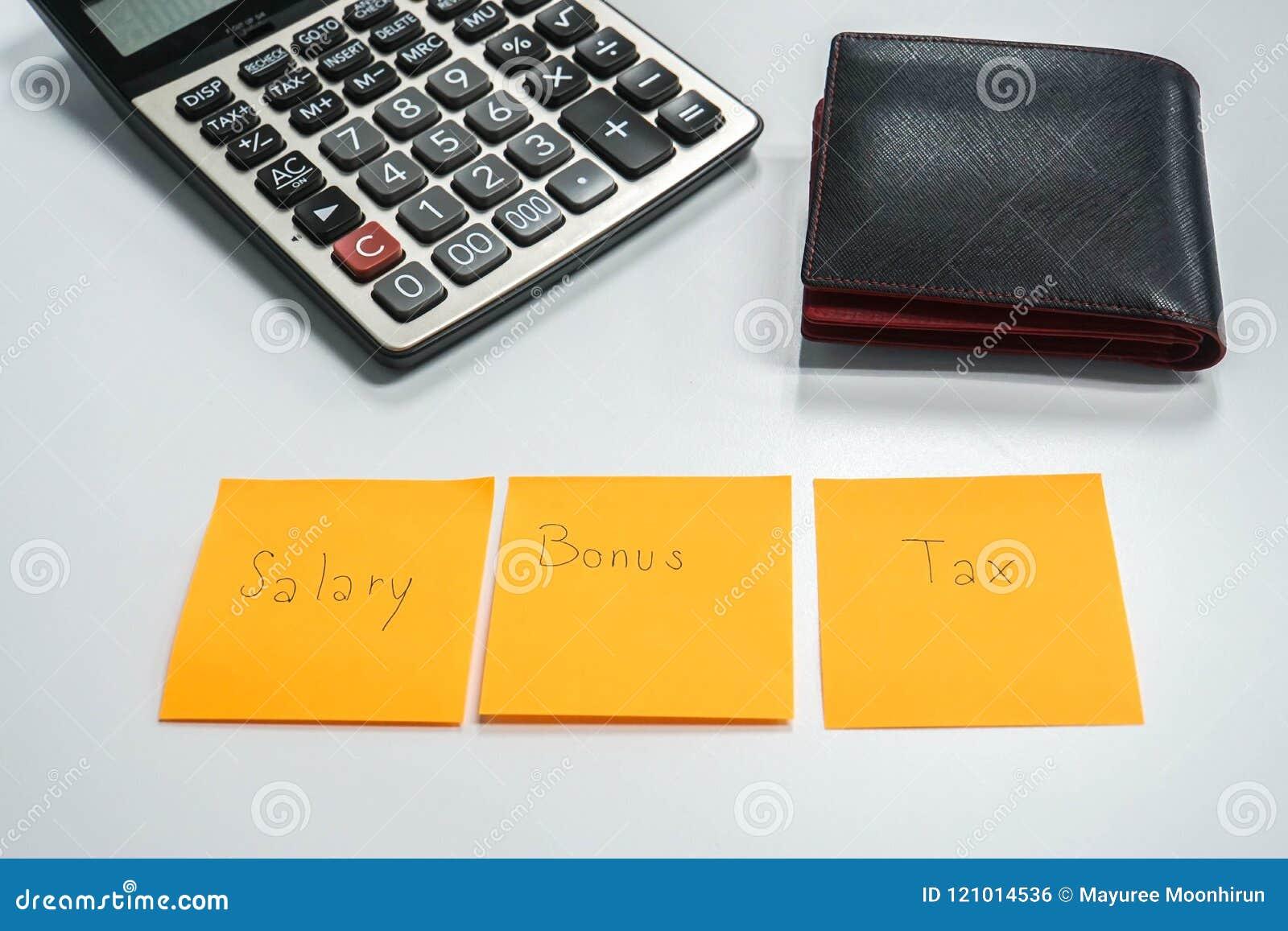 Tax rate on a bonus calculator.