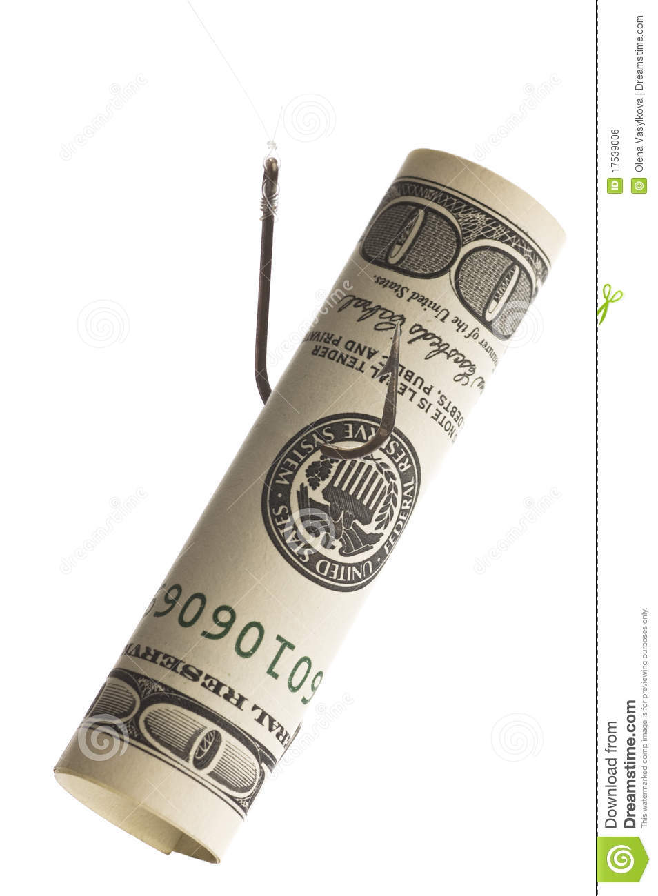 Money on fish hook royalty free stock image image 17539006 for Fish for cash