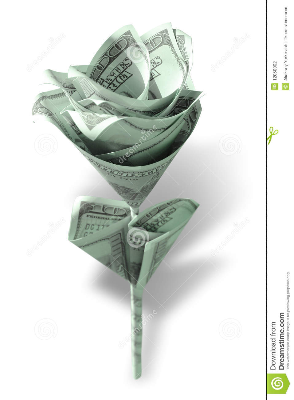 Dollar Rose Origami Instructions