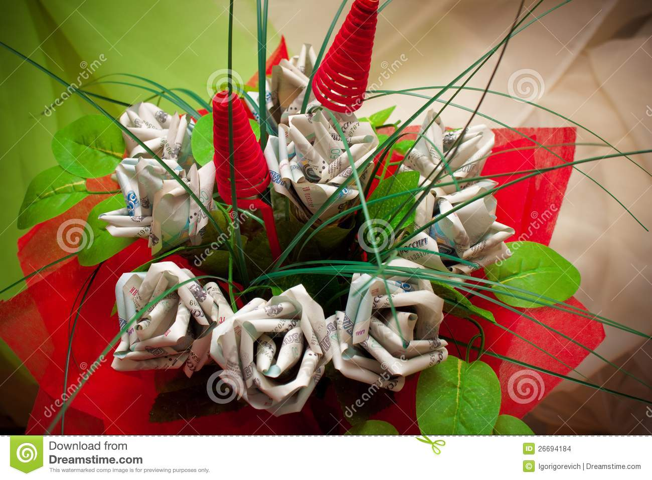 Money flowers stock photo. Image of banknotes, cash, financial ...