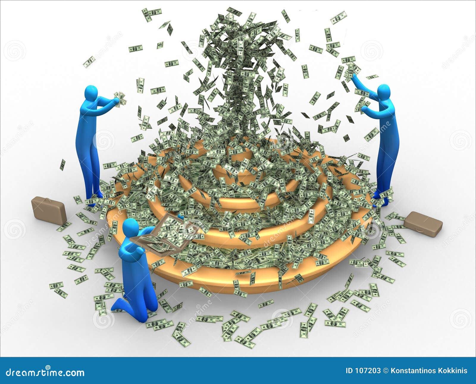Money fountain