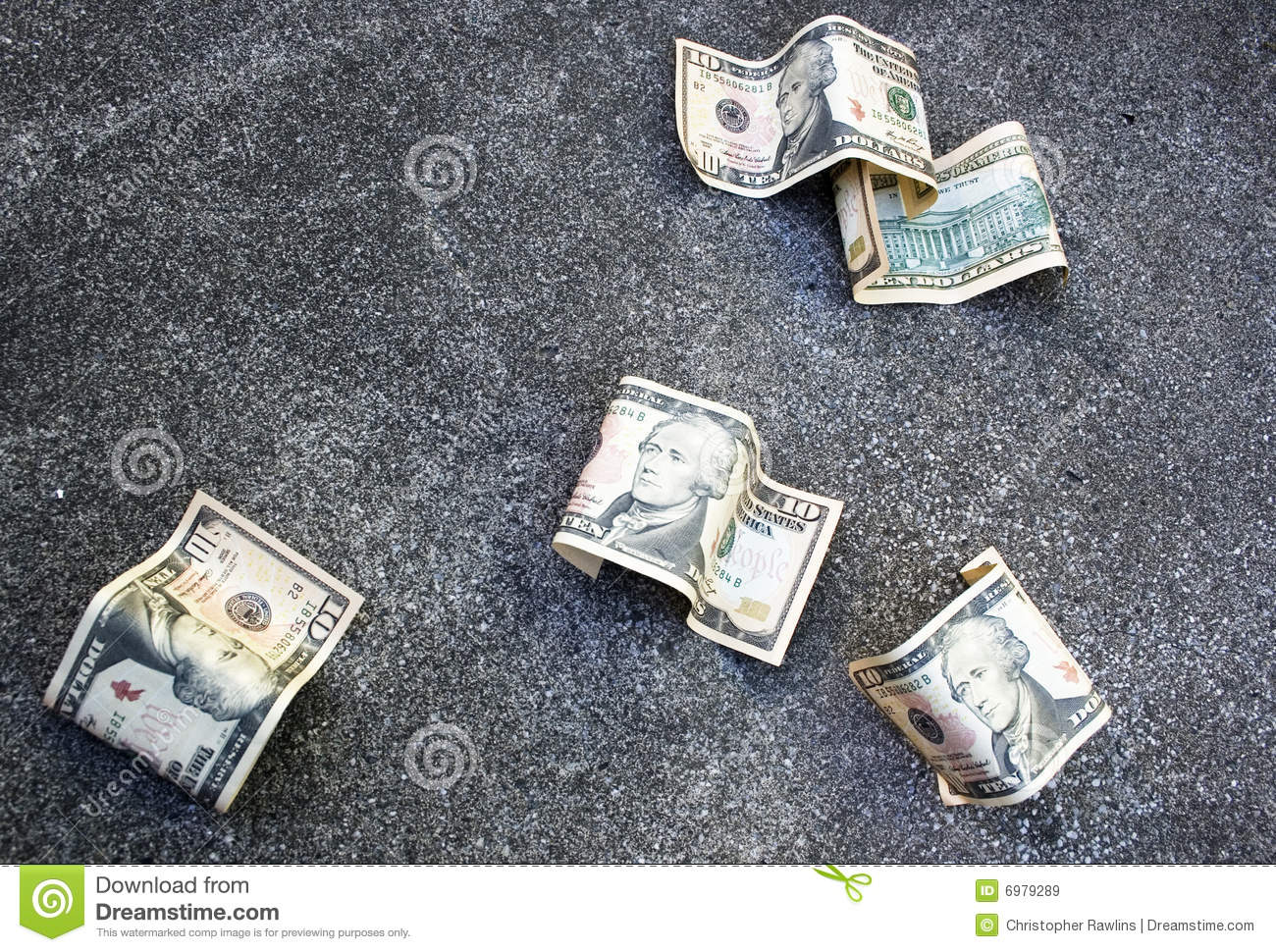 money on the ground stock image image of discard away