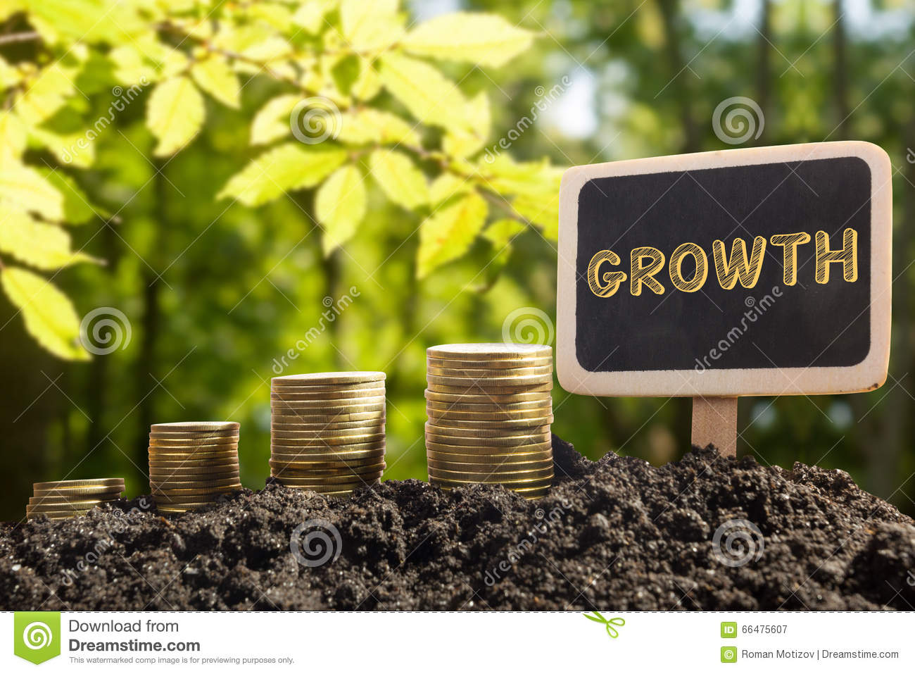 Growing profit business concept stock illustration 79054579 - Successful flower growing business ...