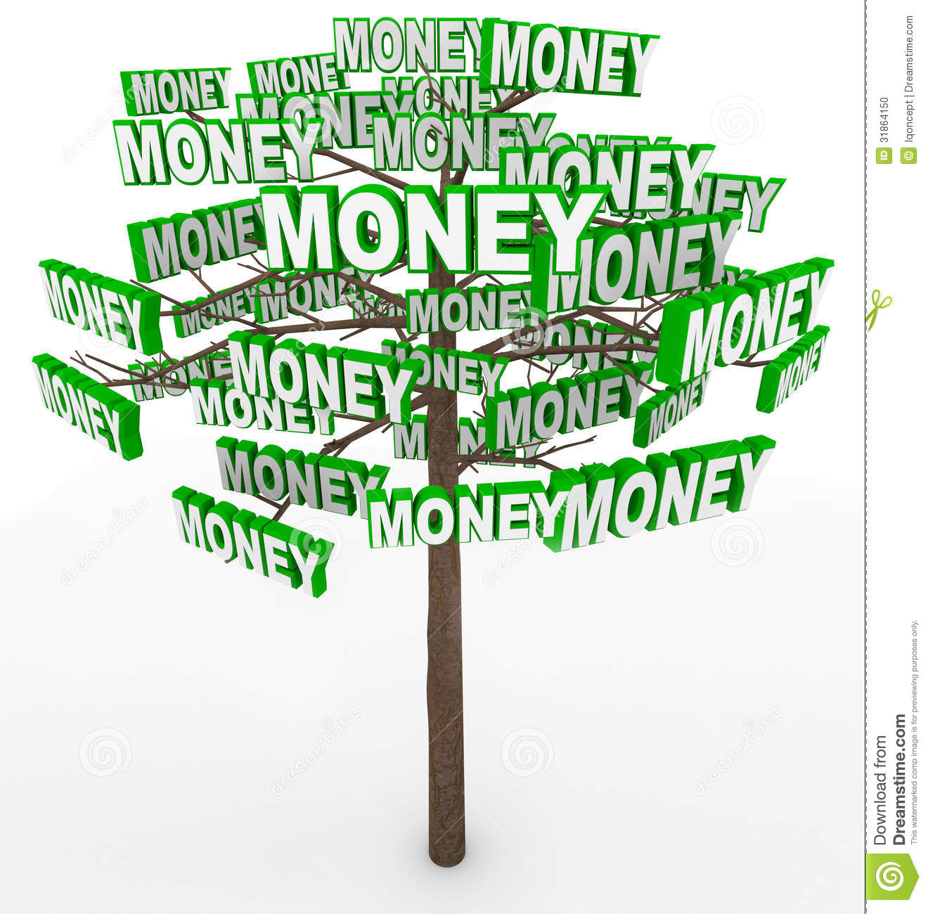 Get rich by picking money off tree branches despite the saying Money ...