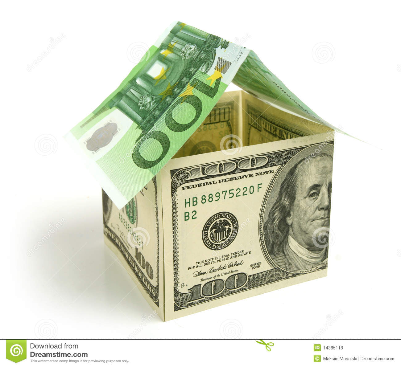 Money house royalty free stock photos image 14385118 for Free money to build a house