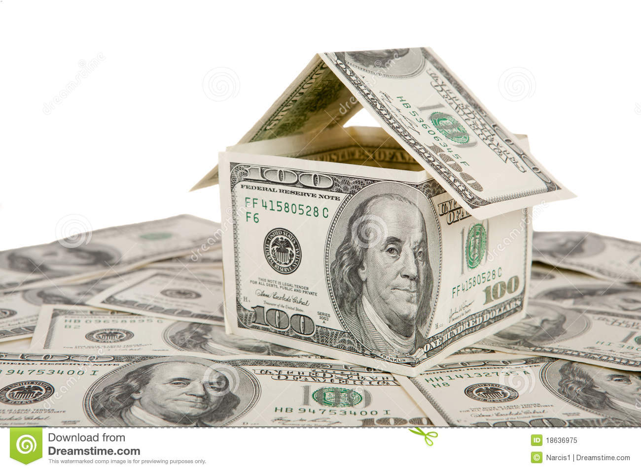 Money house royalty free stock photo image 18636975 for Home design unlimited money