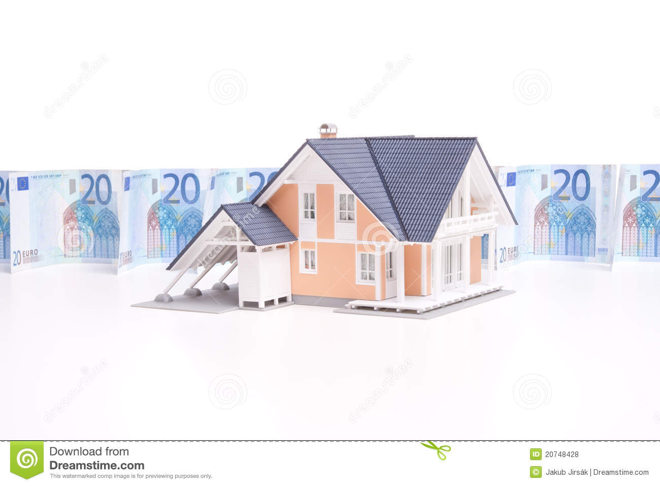 Money And House Royalty Free Stock Photos Image 20748428