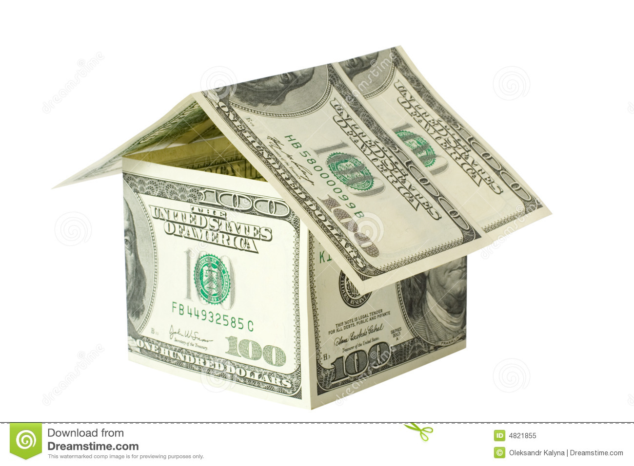 Money house stock image image of loan white path bank for Home design unlimited money