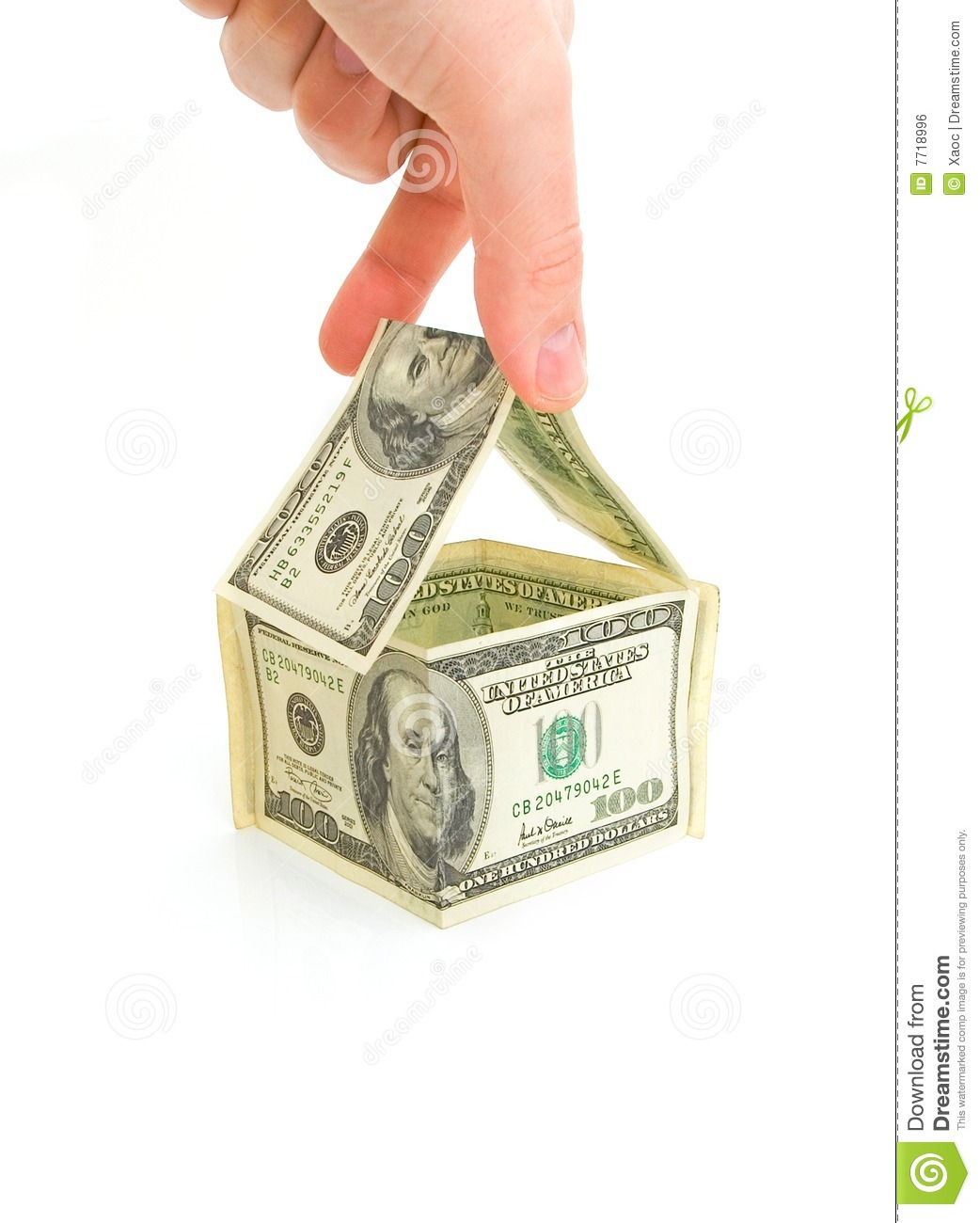 Money House Royalty Free Stock Image Image 7718996