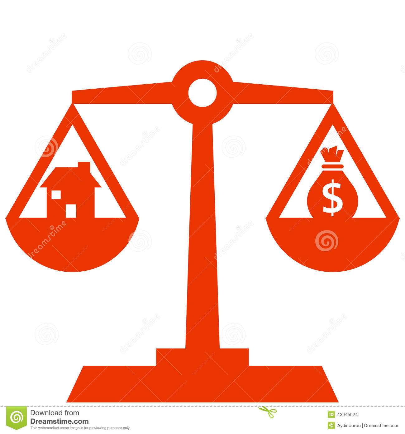 Money On Balancing Scales Stock Images - Image: 11860984