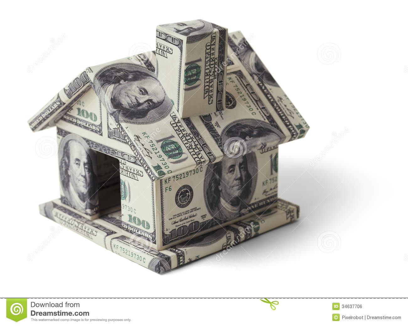 Money House Stock Photo Image Of Paper Mortgage Home