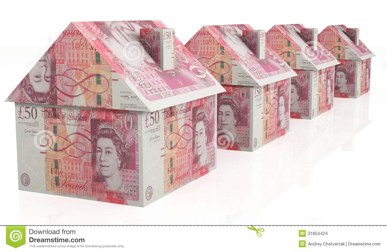 Money house pounds stock photo image of rent selling for Home design unlimited money