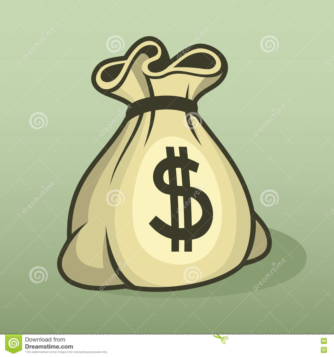 Money Icon With Bag, Color Vector. Stock Vector ...