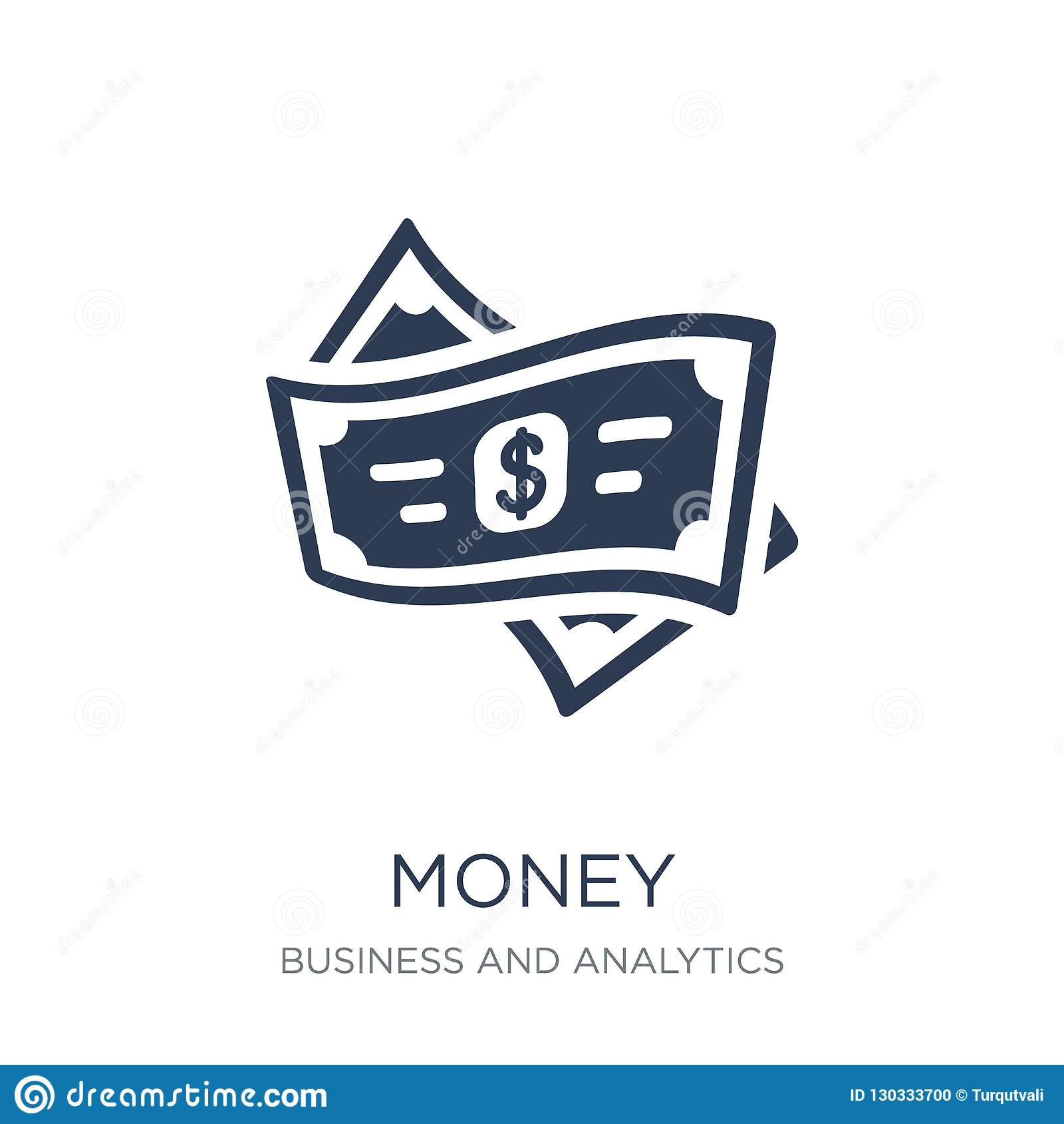 Money icon. Trendy flat vector Money icon on white background fr