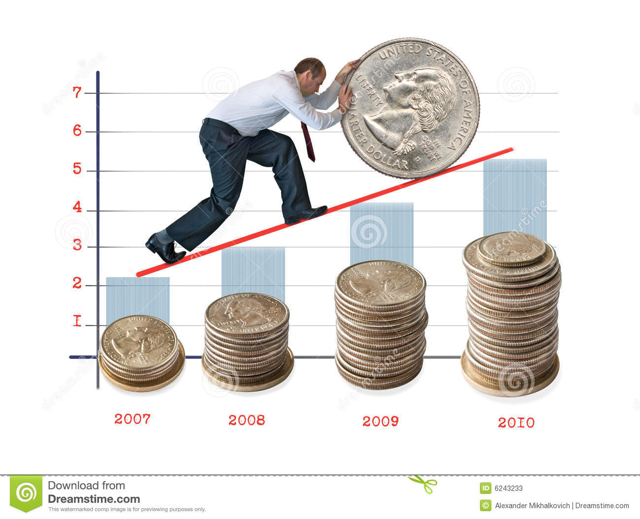 Money And Increase Of The Capital Stock Photos Image