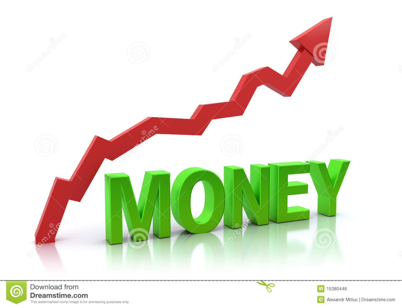 Money And Increasing Graph Royalty Free Stock Image