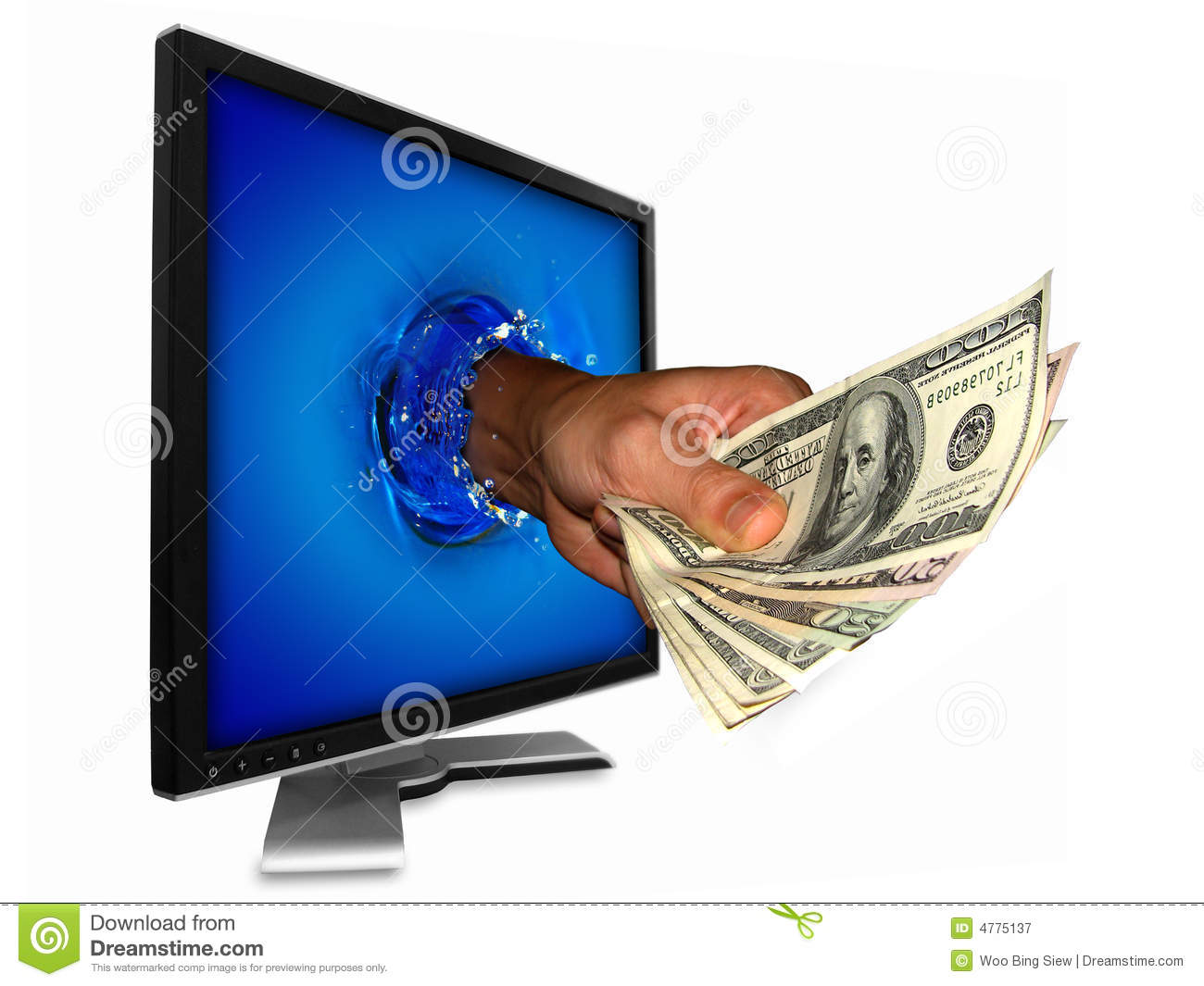 Download Money from internet stock image. Image of cash, abstract - 4775137