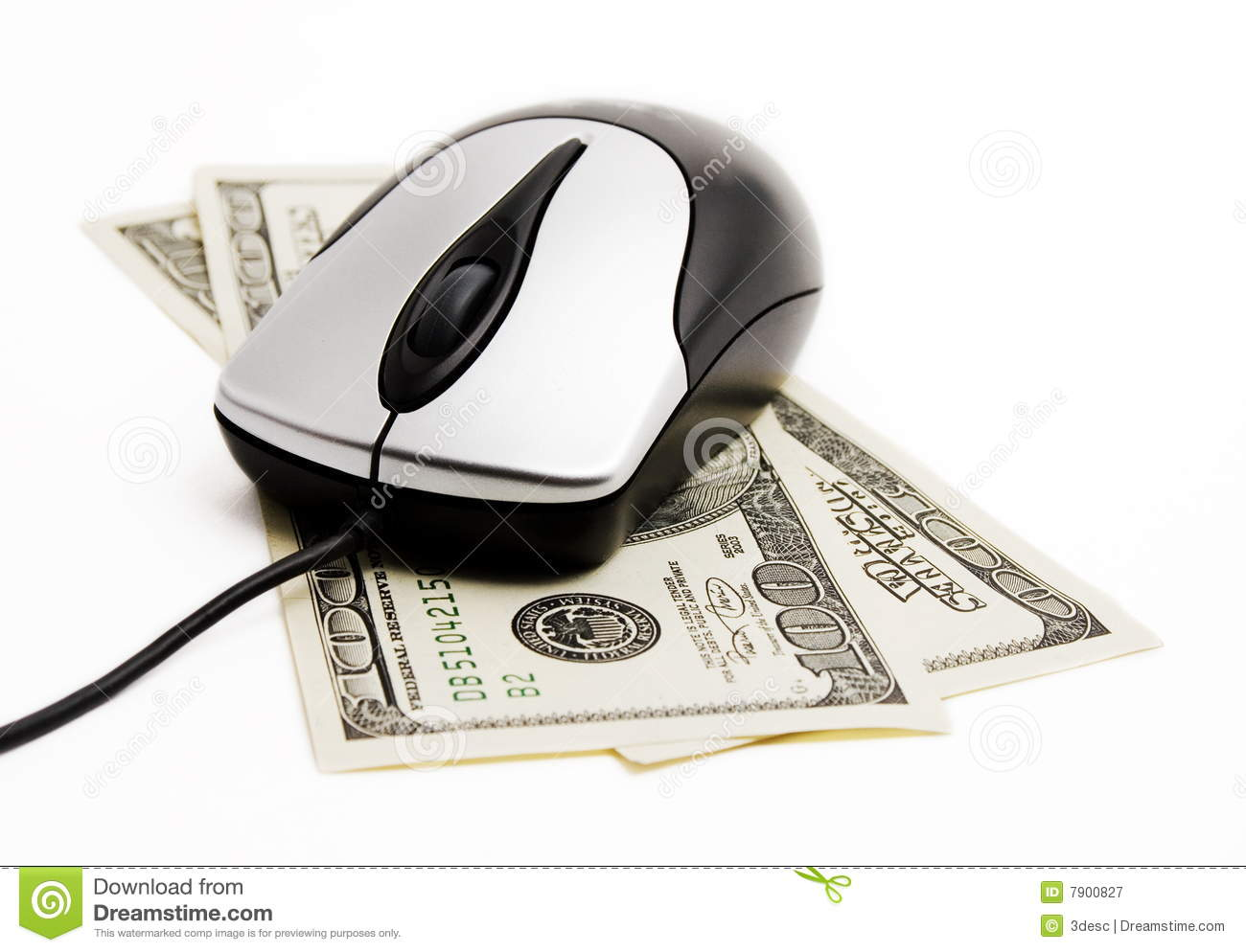 Money And Internet Royalty Free Stock Photography - Image: 7900827
