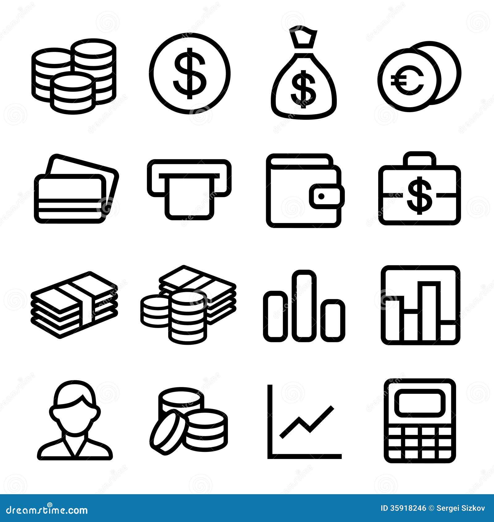 Money Ios 7 Icon Set Royalty Free Stock Image - Image ...