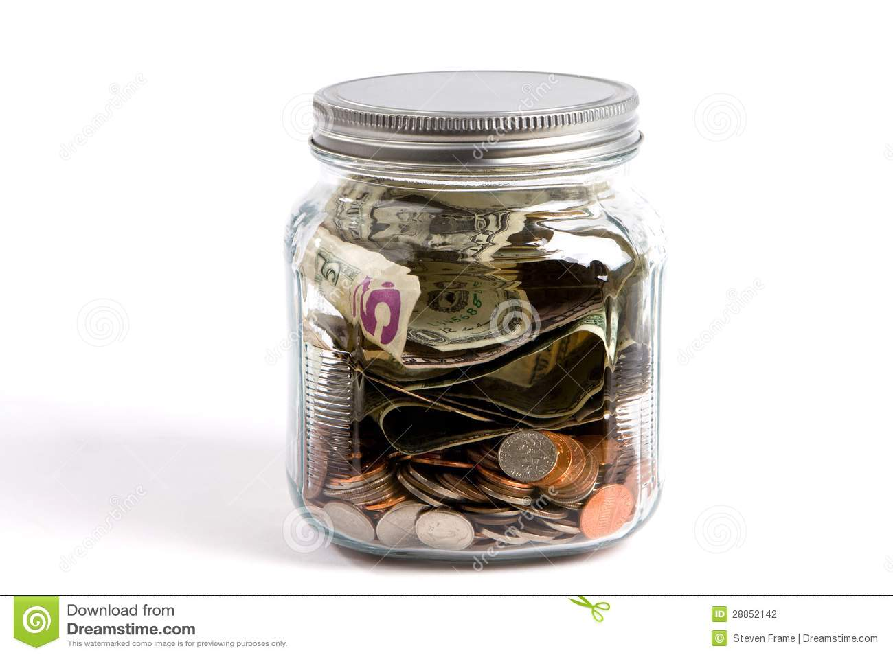 Money jar stock photography image 28852142 for Cool money jars