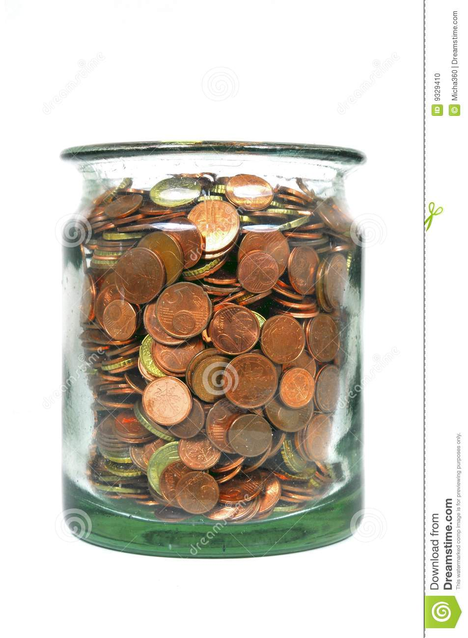 Money Jar With Euro Coins Stock Photo Image Of Investment