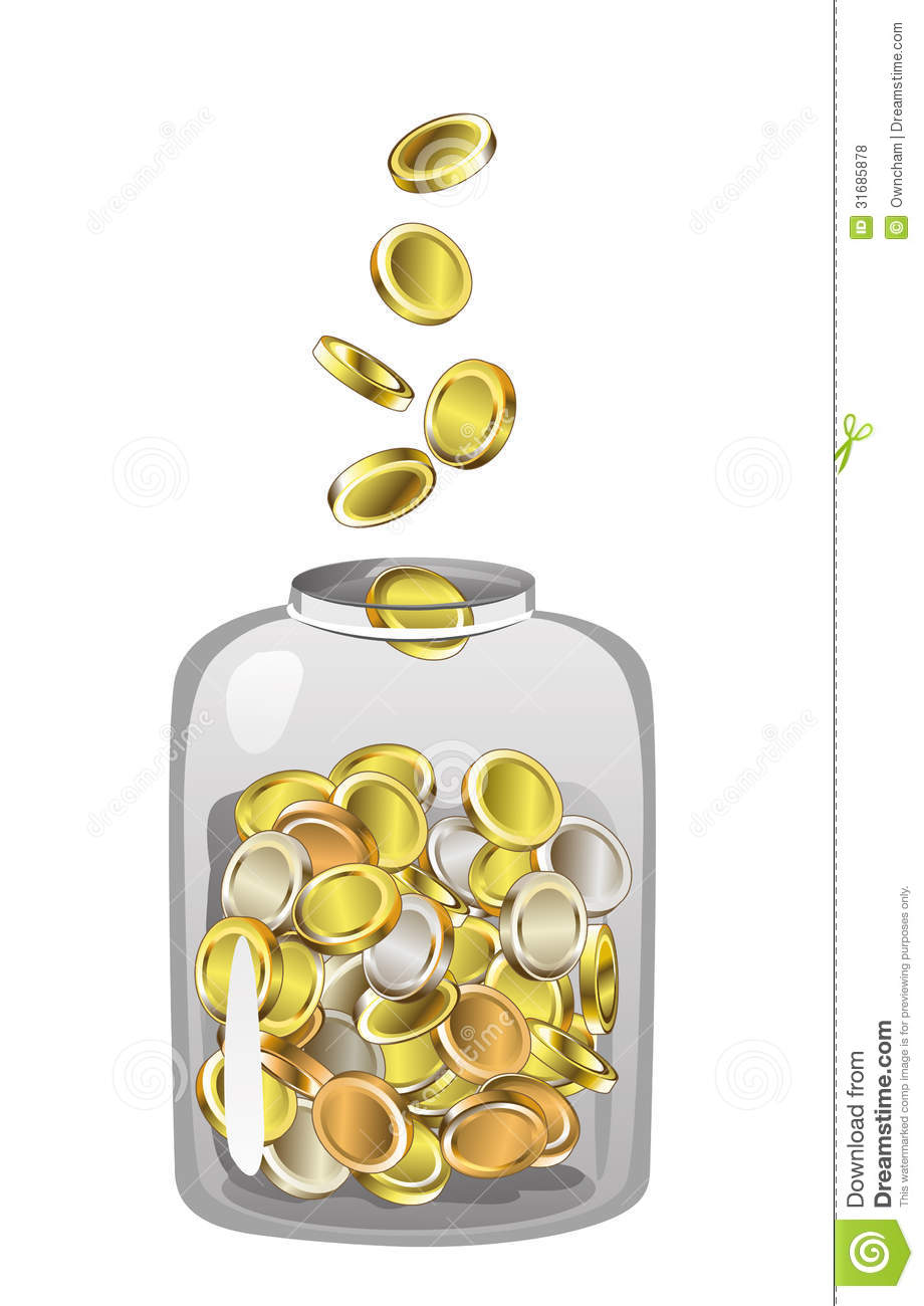 Money Jar Royalty Free Stock Photos - Image: 31685878