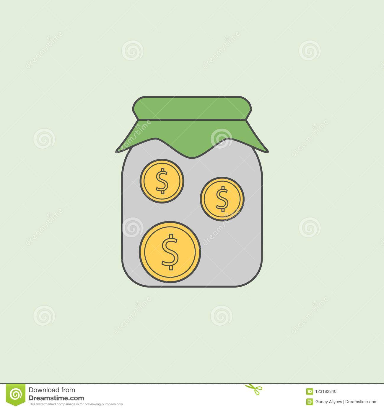 Money In Jar Icon  Element Of Banking Icon For Mobile