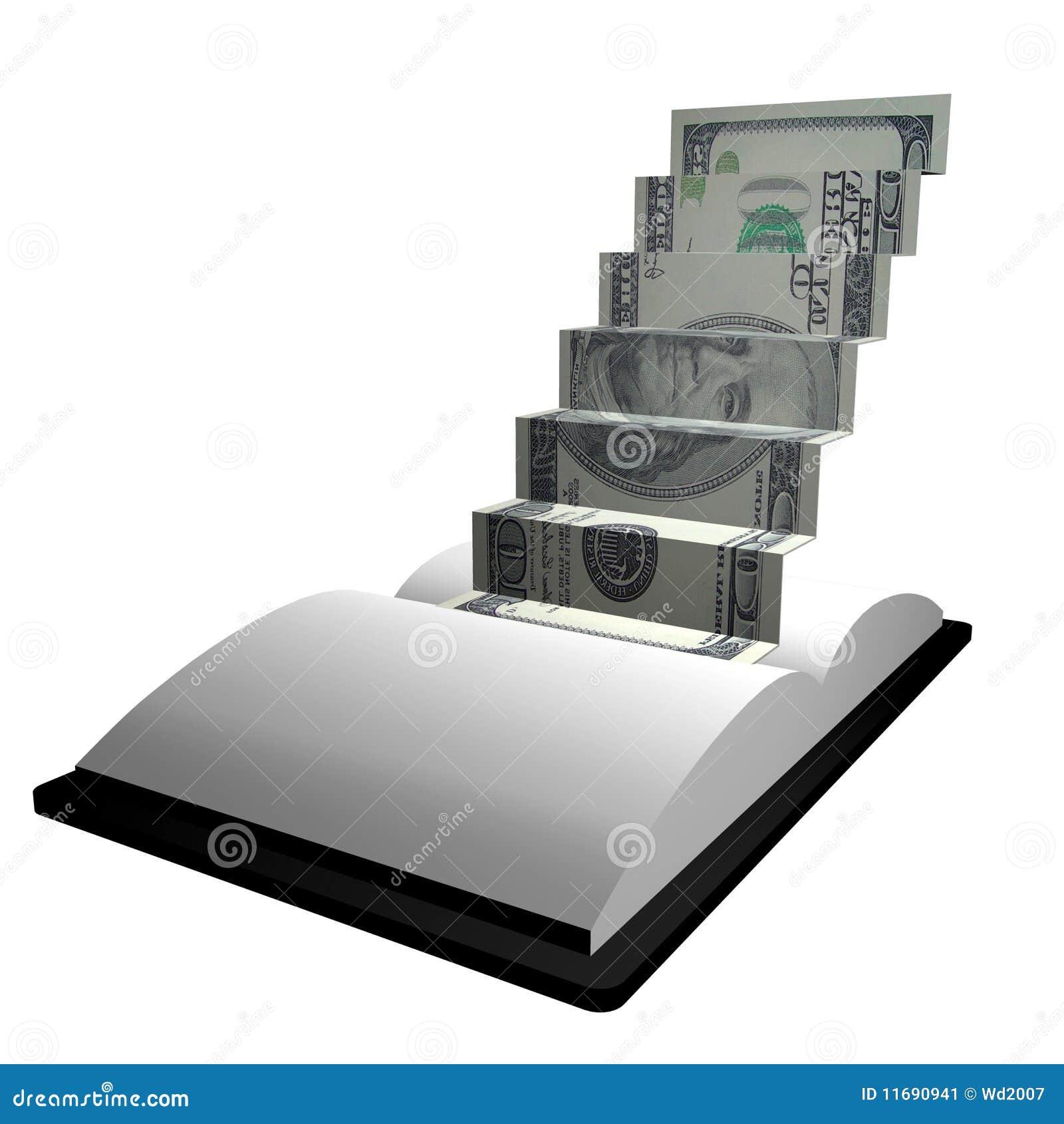 money ladder origami stock image image 11690941
