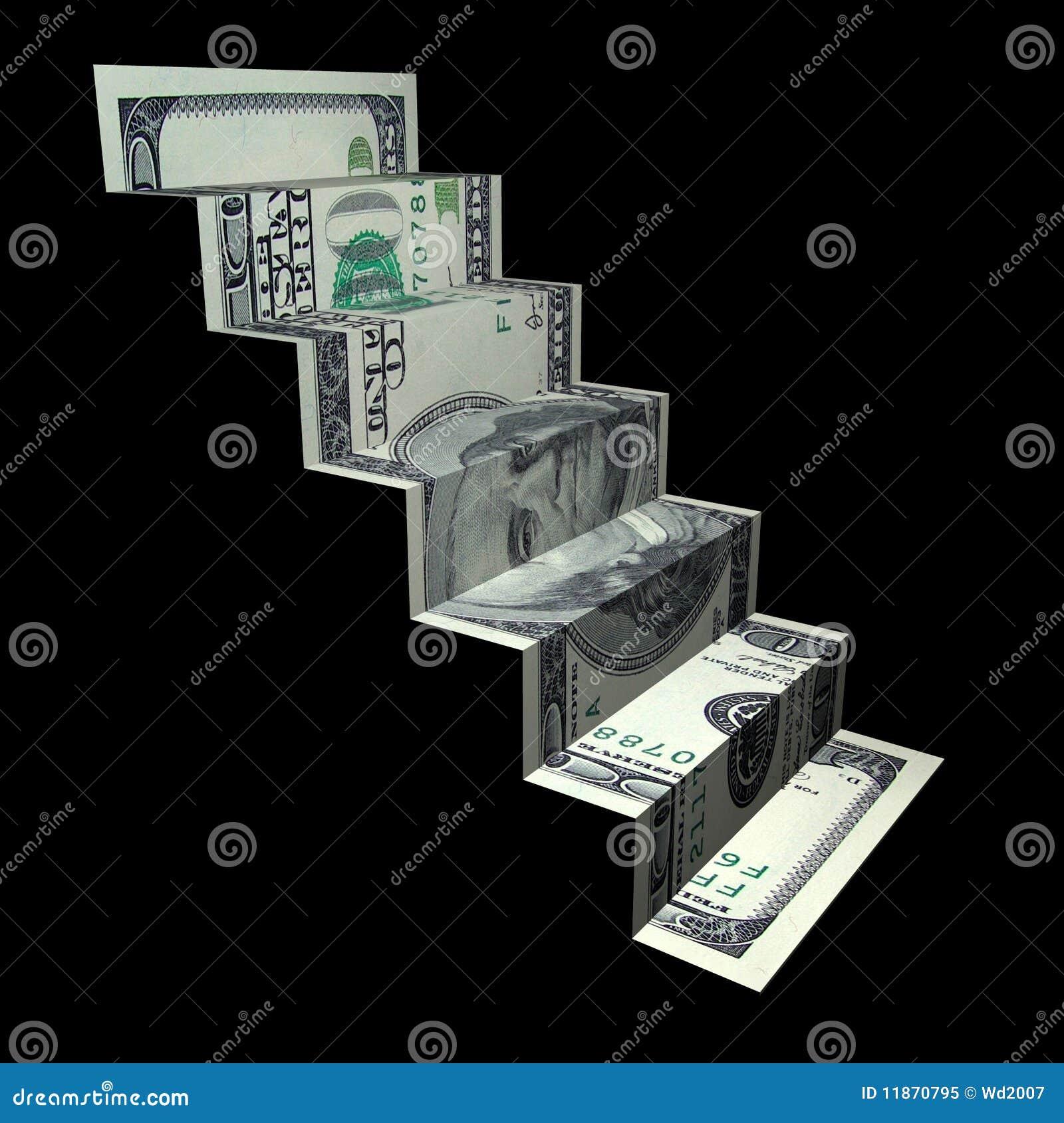 money ladder origami royalty free stock photo image