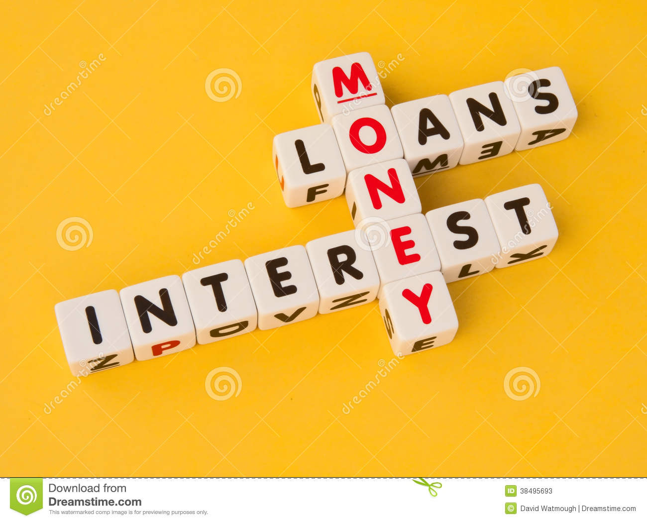 Money loans and interest stock image image of background Interest only construction loan