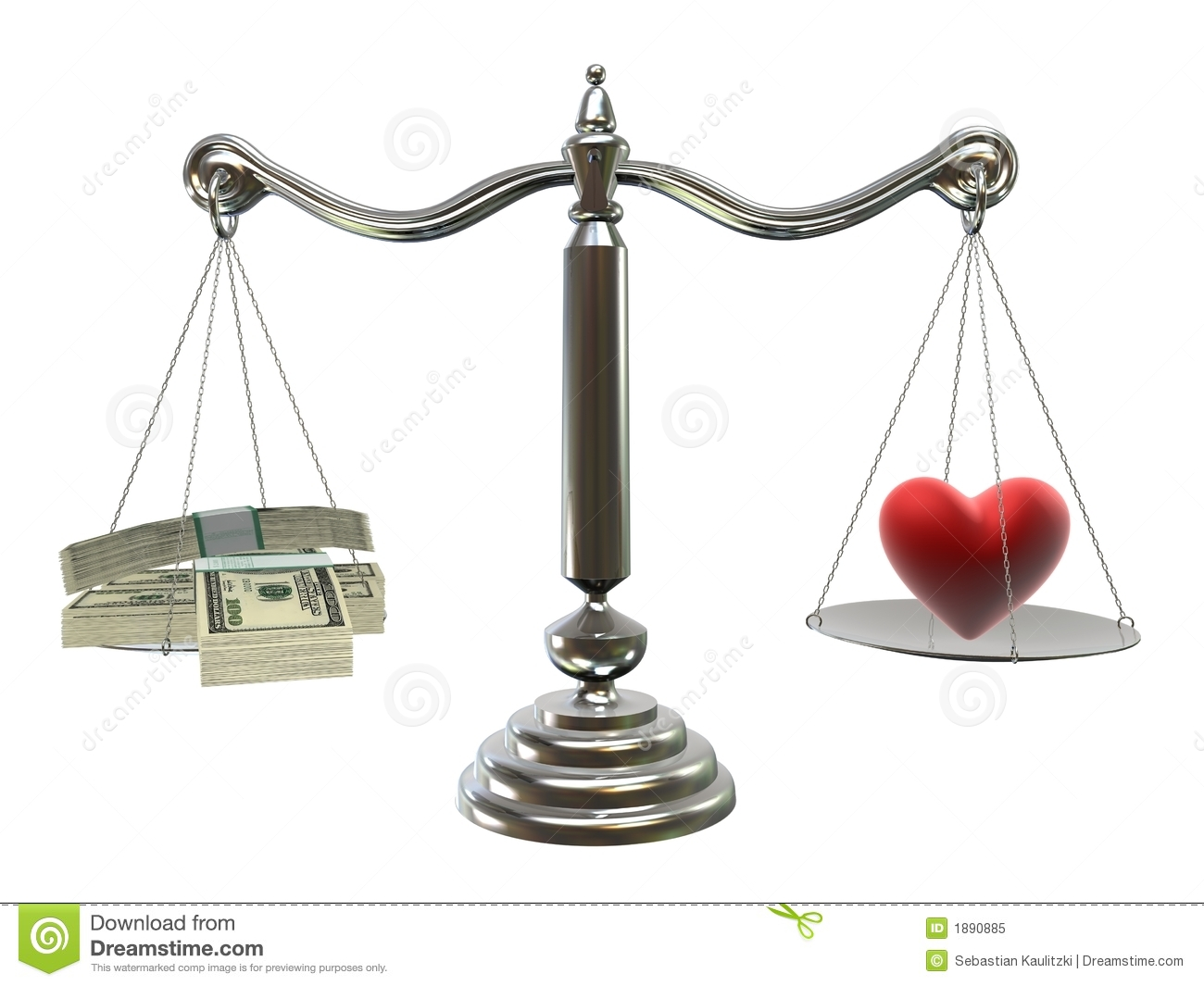 Money Or Love Royalty Free Stock Photo - Image: 1890885