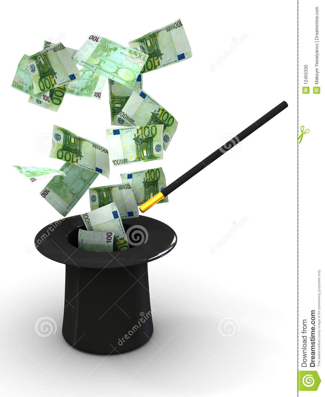 Money from nowhere magic stock photo image 12455330
