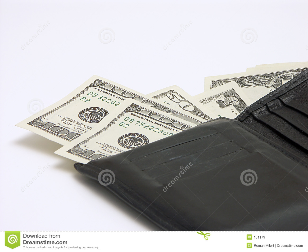 Money out of wallet