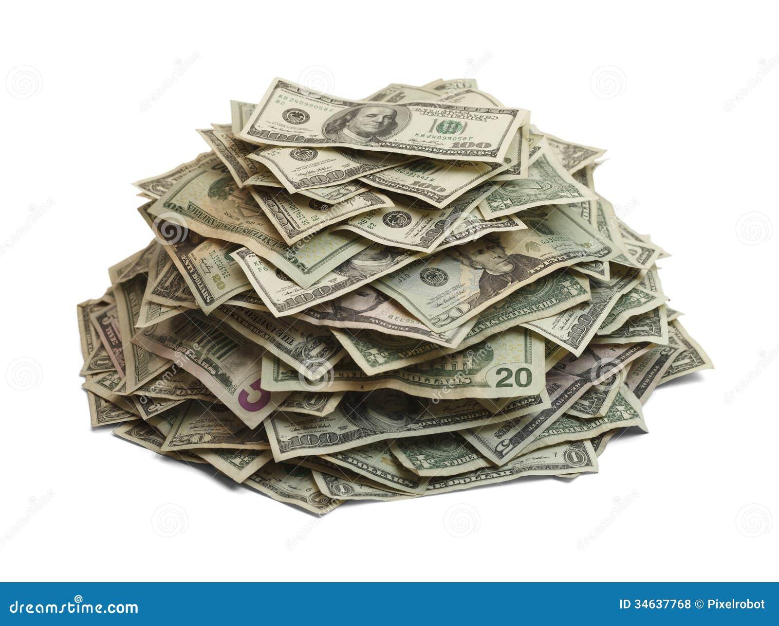 Money Pile Stock Photo Image Of Frame Business Finance